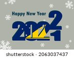 new year's card 2022. it... | Shutterstock .eps vector #2063037437