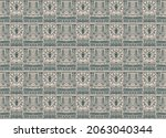 ikat geometric folklore...   Shutterstock .eps vector #2063040344
