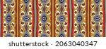 ikat geometric folklore...   Shutterstock .eps vector #2063040347