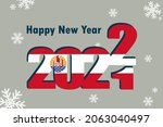 new year's card 2022. it... | Shutterstock .eps vector #2063040497