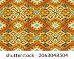 ikat geometric folklore...   Shutterstock .eps vector #2063048504