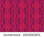 ikat border. geometric folk...   Shutterstock .eps vector #2063062841
