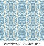 ikat border. geometric folk...   Shutterstock .eps vector #2063062844