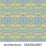 ikat border. geometric folk...   Shutterstock .eps vector #2063062847