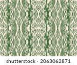 ikat border. geometric folk...   Shutterstock .eps vector #2063062871