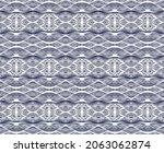 ikat border. geometric folk...   Shutterstock .eps vector #2063062874