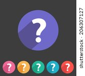 flat style question icon for...