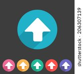 flat style arrow up icon for...
