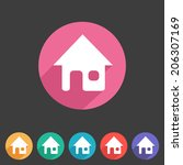 flat style home icon for your...