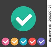 flat style tick icon for your...