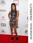 Small photo of Leilani Brandon attends The Leimert Park Cultural Film Festival at The Alley, Los Angeles, CA on October 23, 2021