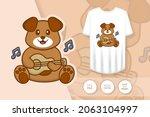 cute dog cartoon character.... | Shutterstock .eps vector #2063104997