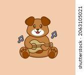 cute dog cartoon character... | Shutterstock .eps vector #2063105021
