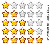 game web rating stars set on...
