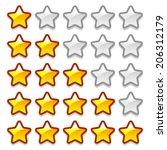 game web rating stars set on...