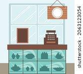 small business dessert counter...   Shutterstock .eps vector #2063123054