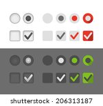 different selection graphic... | Shutterstock .eps vector #206313187