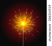 sparkler  bengal light | Shutterstock .eps vector #206314519