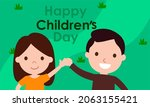 hand drawn flat world children...   Shutterstock .eps vector #2063155421