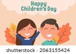 hand drawn flat world children...   Shutterstock .eps vector #2063155424