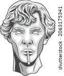 greek statue illustration with...   Shutterstock .eps vector #2063175341