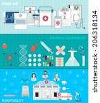 set of flat medical design... | Shutterstock .eps vector #206318134