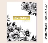 invitation greeting card with... | Shutterstock .eps vector #2063215664