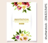 invitation greeting card with... | Shutterstock .eps vector #2063215691