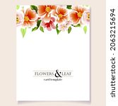 invitation greeting card with... | Shutterstock .eps vector #2063215694