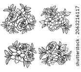 flowers set. collection of... | Shutterstock .eps vector #2063216117