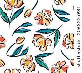 handmade seamless pattern... | Shutterstock .eps vector #2063225981