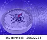 abstract image of a compass on... | Shutterstock . vector #20632285