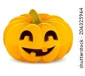 halloween pumpkin. smiling jack ... | Shutterstock .eps vector #206325964