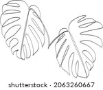 abstract one line art leaf.... | Shutterstock .eps vector #2063260667