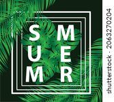 design summer with tropical... | Shutterstock .eps vector #2063270204