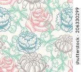 floral seamless | Shutterstock .eps vector #206330299