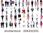 collage  education concept.... | Shutterstock . vector #206332201