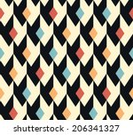 seamless abstract geometric...   Shutterstock .eps vector #206341327