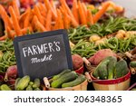fresh organic produce on sale... | Shutterstock . vector #206348365