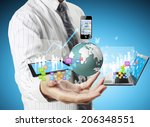 technology in the hands of... | Shutterstock . vector #206348551