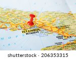 close up of  istanbul  turkey ... | Shutterstock . vector #206353315