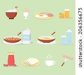 breakfast | Shutterstock .eps vector #206356675