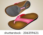 illustration slipper | Shutterstock .eps vector #206359621