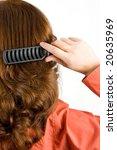 woman brushing her hair...   Shutterstock . vector #20635969