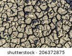 drought  cracked earth pattern  ...   Shutterstock . vector #206372875