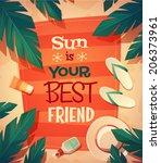 Summer Beach Card   Poster...