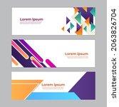 abstract banner design web... | Shutterstock .eps vector #2063826704