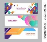 abstract banner design web... | Shutterstock .eps vector #2063826707