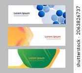 abstract banner design web... | Shutterstock .eps vector #2063826737