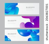 abstract modern horizontal web... | Shutterstock .eps vector #2063827001